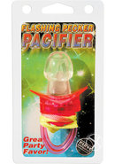 Flashing Pecker Pacifier Red