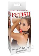 Fetish Fantasy Series Beginners Ball Gag Red