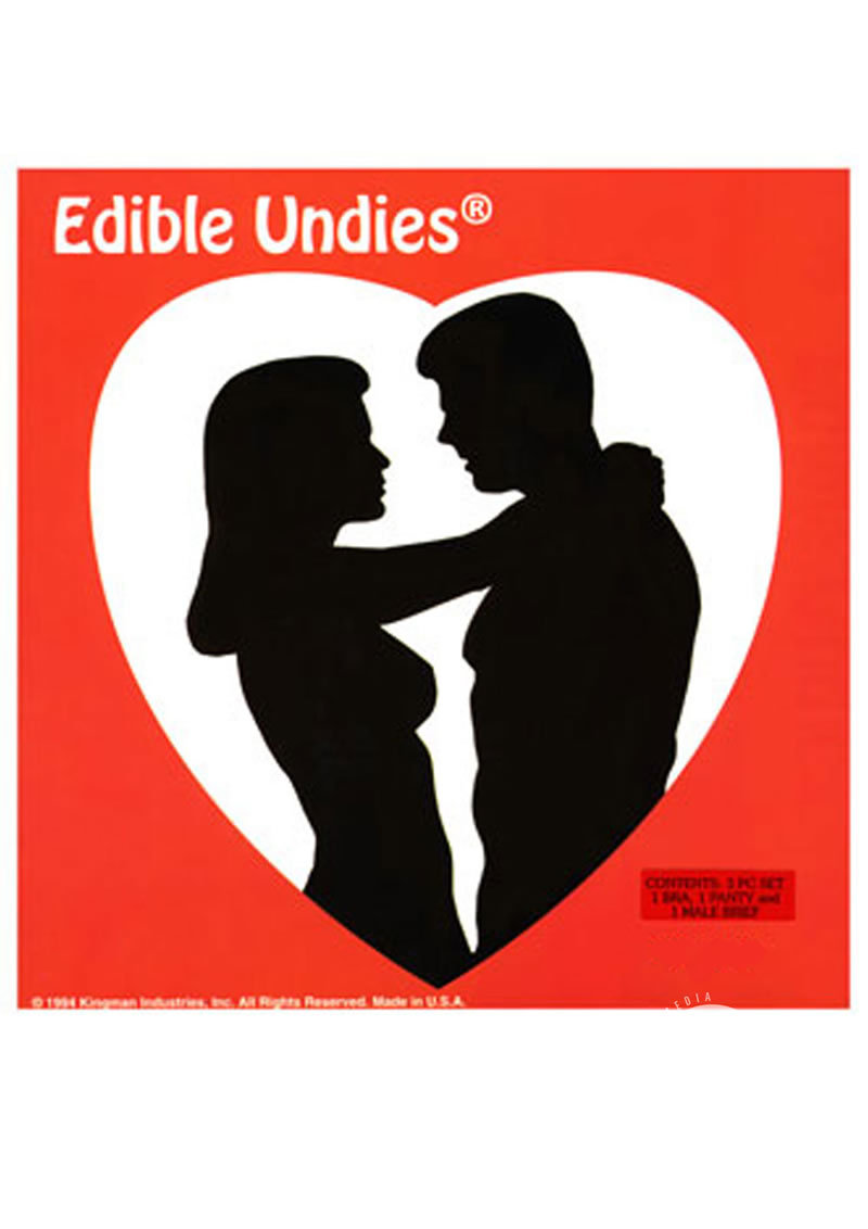His And Hers Edible Undies 3 Piece Strawberry Chocolate